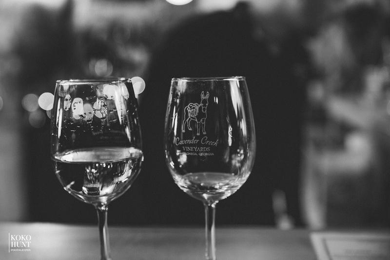 Wine tasting at Cavender Creek Vineyards